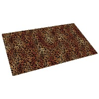 Drymate 12-Inch by 20-Inch Pet Bowl Place Mat with Leopard Imprint Design, Small/Medium by Drymate