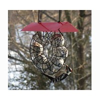 Songbird Essentials Suet Ball Red Roof Round Wire Circle Feeder