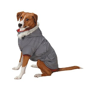 East Side Collection 3-in-1 Eskimo Jacket for Dogs, 16 Medium, Grey by East Side Collection