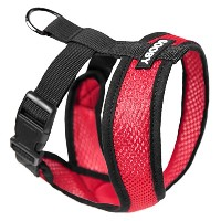 Gooby 04110-RED-M Comfort X Harness Red Medium Soft Synthetic Lambskin Trimming Strap