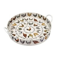Emma Bridgewater Hens LARGE GARDEN TRAY, Tin, Various , , 1-Piece by Emma Bridgewater