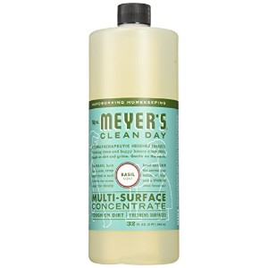 Mrs. Meyers Clean Day, Multi-Surface Concentrated Cleaner, Basil, 32 fl oz (946 ml)