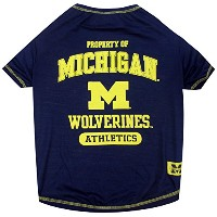 Michigan Wolverines Pet Shirt XS