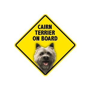 CAIRN TERRIER ON BOARD マグネットステッカー:ケアーンテリア 乗車中 搭乗中 Made in U.S.A [並行輸入品]