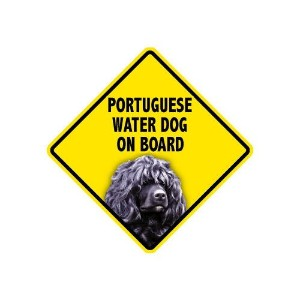 PORTUGUESE WATER DOG ON BOARD マグネットステッカー:ポーチュギーズウォータードッグ 乗車中 搭乗中 Made in U.S.A [並行輸入品]