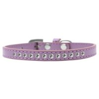 Clear Crystal Size 12 Lavender Puppy Collar