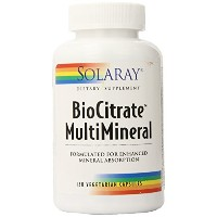 SOLARAY (ソラレー) Biocitrate Multimineral Supplement, 120 Count [海外直送][並行輸入品]