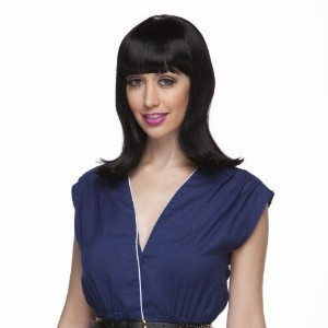 Characters Peggy Sue Synthetic Wig Black (並行輸入品)