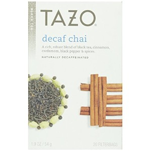 Tazo Teas, Decaf Chia, Naturally Decaffeinated, Black Tea, 20 Filterbags, 1.9 oz (54 g)
