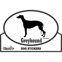 Greyhound ROUNDステッカー:グレイハウンド 耐水性 シール Made in U.S.A [並行輸入品]