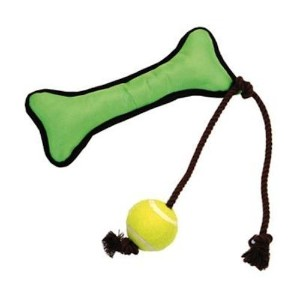 Coastal Pet 88010 R GRNDOG Bone and Ball Toy, 14-Inch, Green [並行輸入品]