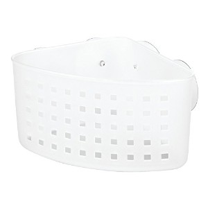 InterDesign Suction Bathroom Shower Caddy Basket for Shampoo, Conditioner, Soap - Clear by...
