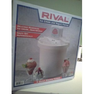 Rival Electric 4-quart Ice Cream Maker by Rival