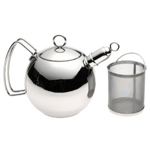 WMF 1 1/2-Quart Stainless Steel Ball Shaped Tea Kettle with Infuser by WMF