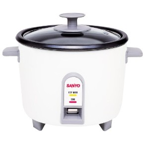 Sanyo EC-503 3-Cup (Uncooked) Rice Cooker and Vegetable Steamer, White by Sanyo