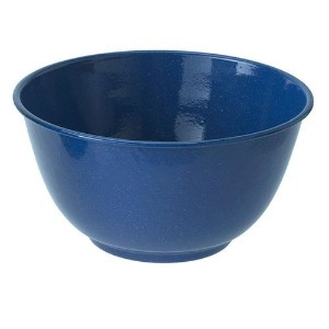 GSI Outdoors Blue Enamelware 10.75 inch Mixing Bowl by GSI