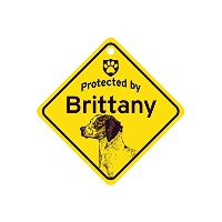 Protected by Brittany スモールサインボード:ブリタニー 監視中 ミニ看板 アメリカ製 Made in U.S.A [並行輸入品]