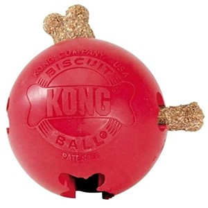 KONG Biscuit Ball Dog Toy, Large, Red by KONG [並行輸入品]