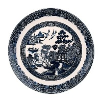 Johnson Brothers Willow Blue Dinner Plate 11, Blue by Johnson Brothers