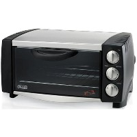 DeLonghi EO1251 6-Slice 1/2-Cubic-Foot Convection Oven, Black and Stainless Steel by DeLonghi