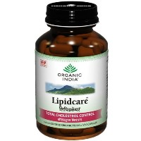 Organic India Lipidcare Natural Cardio- protective with Total Cholesterol Control 60 VCaps of 400mg...