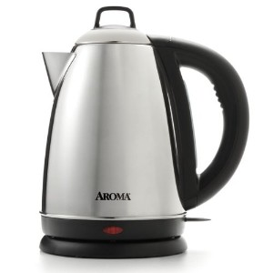 Aroma Housewares Hot H20 X-Press 1.5 Liter (6-Cup) Cordless Electric Water Kettle, Stainless Steel...