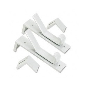 Partition Double Garment Hooks, 1 1/2 x 6 1/2, Gray, 2/Pack (並行輸入品)
