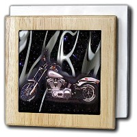 3droseタイルナプキンホルダーPicturing harley-davidson174 ; Motorcycle 6 inch tile napkin holder nh_145_1