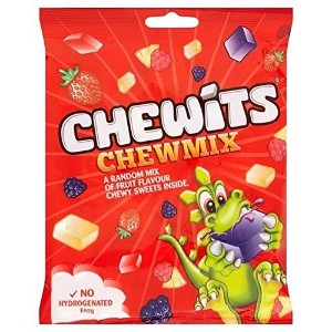 Chewits Chew Mix Fruit Flavour Chewy Sweets 180g チューイッツ ミックスフルーツ 180g