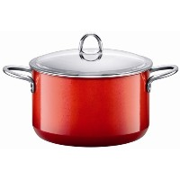 Silit Passion 7-Quart High Casserole with Lid, Energy Red by Silit [並行輸入品]