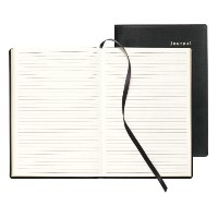 Bonded Leather Journal, Black, 160 Gold-Edged Pages, 5 1/2 x 7 3/4 (並行輸入品)
