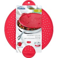 Trudeau 11-Inch Silicone Splatter Screen, Red by Trudeau