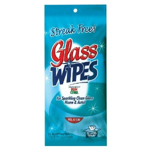 Trademark Poker 80-NA250FD 25 Magic Blue Streak Free Glass Wipes - Re-sealable