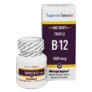 Superior Source - No Shot Triple B12 Instant Dissolve 1000 mcg. - 60 Tablet(s) by Superior Source