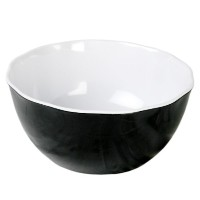 Excellanté Micaブラックコレクション11 – 1 / 4 4 – 1 / 4インチby Large Serving Bowl、2色