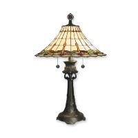 Dale Tiffany TT60584 Ava Grace Table Lamp, Mica Bronze and Art Glass Shade by Dale Tiffany Lamps