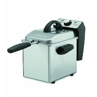 【並行輸入】Waring DF55 Professional Mini 1-2/7-Pound-Capacity Stainless-Steel Deep Fryer フライヤー