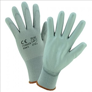 West Chester 813-713SUCG-L Gray Pu Palm Coated Graynylon Gloves