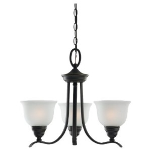 Sea Gull 31625-782 3-Light Wheaton Heirloom Chandelier, Bronze by Sea Gull