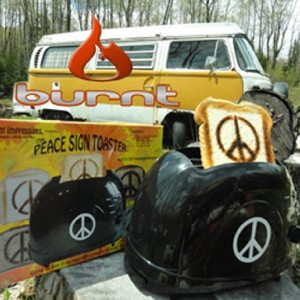 Classic 1960's Peace Sign Toaster - Make Toast, Not War! by Burnt Impressions