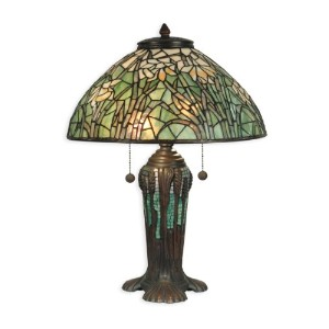 Dale Tiffany TT90429 Tiffany Table Lamp, Antique Bronze Verde Green and Art Glass Shade by Dale...