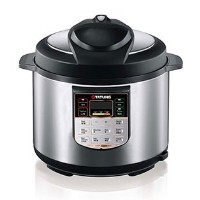 6L stainless steel pressure cooker w/ stainless steel inner pot - Black by TATUNG by Tatung