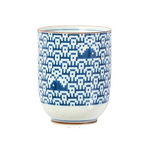 The Porcelains 湯呑 波にクジラ