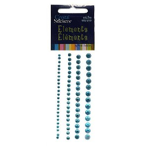 Crystal Stickers Elements 76/Pkg-Round - Turquoise (並行輸入品)