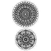 "Inkadinkado Cling Stamps 4""X6"" Sheet-Lace Doilies (並行輸入品)"