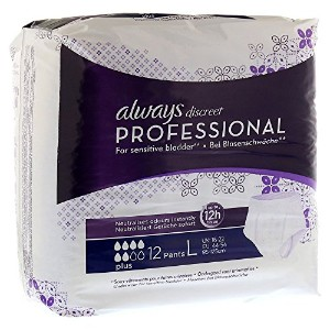 Always Discreet Professional Normal Size L 12 Incontinence Protections by Always