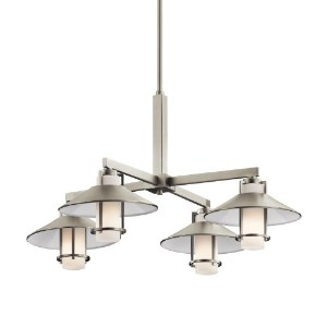 Kichler Lighting 42812NI 4 Light Tavistock Chandelier, Brushed Nickel by Kichler