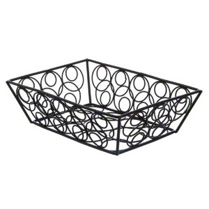 American Metalcraft EBB59B Steel Rectangular Wire Loop-D-Loop Basket, Black, Small by American...