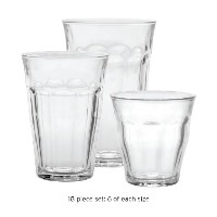 Duralex Picardie Glass Tumblers French Bistro 18Pc Set by Duralex