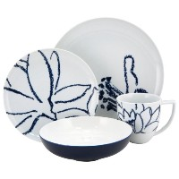 Nikko Artist Blue 4-Piece Placesetting by Nikko Ceramics